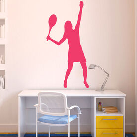 Girl Tennis Player Removable ChalkTalkGraphix Wall Decal