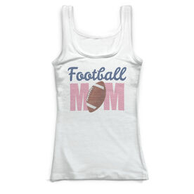 Football Vintage Fitted Tank Top - Football Mom