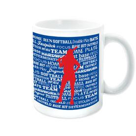 Softball Ceramic Mug Words