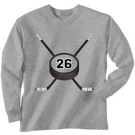 Hockey Tshirt Long Sleeve Personalized Hockey Number