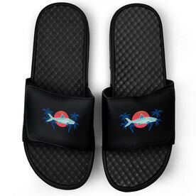 Fly Fishing Black Slide Sandals - Ghosts of the Flats