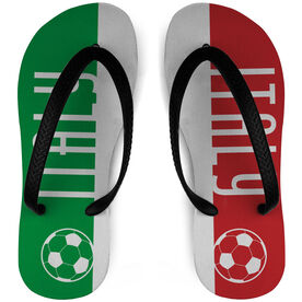 Soccer Flip Flops Italy