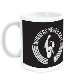 Wrestling Ceramic Mug Winners Never Quit