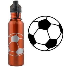 Soccer Ball 24 oz Stainless Steel Water Bottle