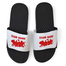 Football White Slide Sandals - Band of Brothers