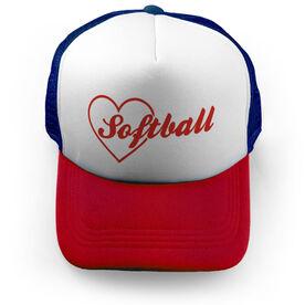 Softball Trucker Hat In My Heart