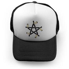 Hockey Trucker Hat Stick Star