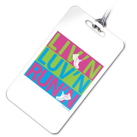Liv'n Luv'n Run'n Personalized Sport Bag/Luggage Tag