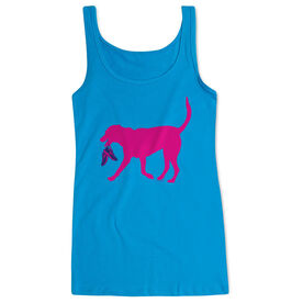 Women's Athletic Tank Top Roxi the Running Dog