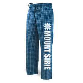 Skiing & Snowboarding Lounge Pants - Snowflake Your Text