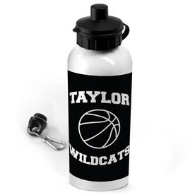 Basketball 20 oz. Stainless Steel Water Bottle Personalized Basketball with Team Name