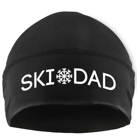Skiing Beanie Performance Hat - Ski Dad with Snowflake