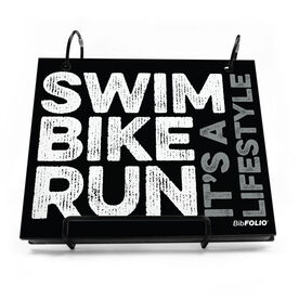 BibFOLIO® Race Bib Album - Swim Bike Run It's A Lifestyle