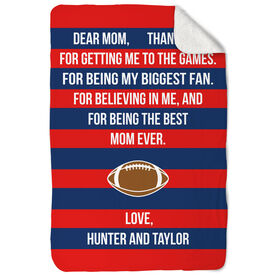 Football Sherpa Fleece Blanket - Dear Mom Heart