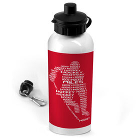 Hockey 20 oz. Stainless Steel Water Bottle Personalized Hockey Words Male Player