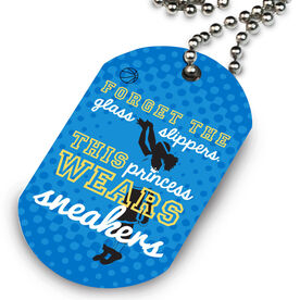 Basketball Printed Dog Tag Necklace Forget The Glass Slippers This Princess Wears Sneakers