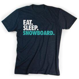 Skiing & Snowboarding T-Shirt Short Sleeve Eat. Sleep. Snowboard.