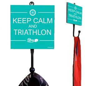 Medal Hook Keep Calm And Triathlon