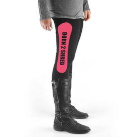 Snowboarding High Print Leggings Born 2 Shred