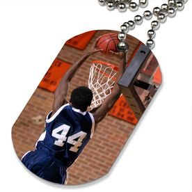 Custom Basketball Photo Printed Dog Tag Necklace