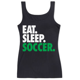 Soccer Women's Athletic Tank Top Eat. Sleep. Soccer.