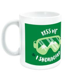 Snowboarding Ceramic Mug Kiss Me I Snowboard