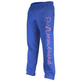 Snowboarding Fleece Sweatpants Love 2 Snowboard