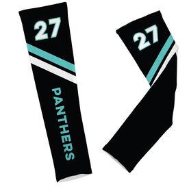 Football Printed Arm Sleeves Football Team Name and Number