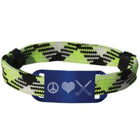 Field Hockey Lace Bracelet Peace Love Field Hockey Adjustable Sport Lace Bracelet