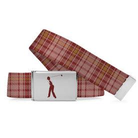 Golf Lifestyle Belt Golfer Plaid Golfer