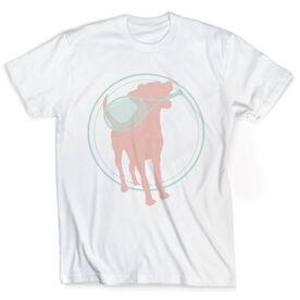 Vintage Tennis T-Shirt - Tennis Dog With Racket