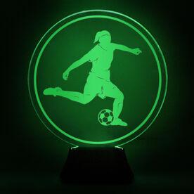 Soccer Acrylic LED Lamp Soccer Girl
