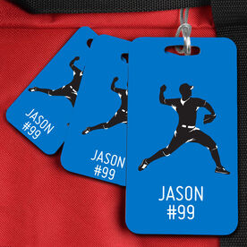 Baseball Bag/Luggage Tag Personalized Pitcher Baseball Guy Name and Number