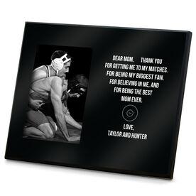 Wrestling Photo Frame - Dear Mom Heart