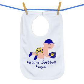 Softball Baby Bib Future Softball Boys