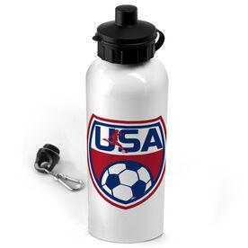 Soccer 20 oz. Stainless Steel Water Bottle USA Soccer