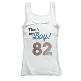 Football Vintage Fitted Tank Top - That's My Boy