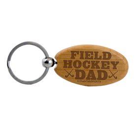 Field Hockey Dad Maple Key Chain