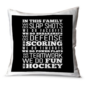 Hockey Throw Pillow We Do Hockey