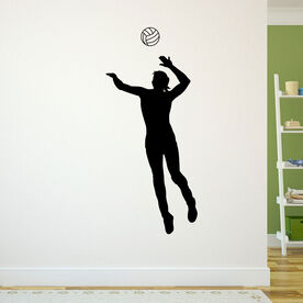 Volleyball Player Spiking Removable ChalkTalkGraphix Wall Decal