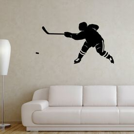 Hockey Slap Shot Removable ChalkTalkGraphix Wall Decal