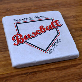 No Plate Like Home Baseball - Stone Coaster