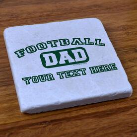 Football Dad (Block Logo) - Stone Coaster