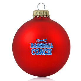 Baseball Glass Ornament Baseball Coach
