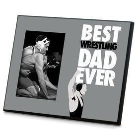 Wrestling Wood Frame  Best Dad Ever
