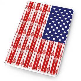 Guys Lacrosse Notebook US Lacrosse Stick Flag