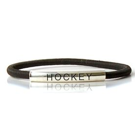 SportEXPRESSION Sterling Silver Tube Bracelet - HOCKEY