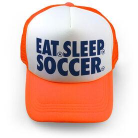 Soccer Trucker Hat - Eat Sleep Soccer