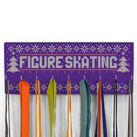 Figure Skating Hooked on Medals Hanger - Christmas Knit