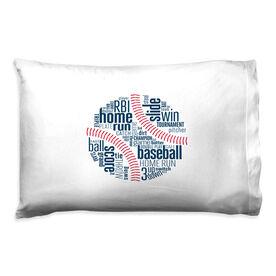 Baseball Pillowcase - Words